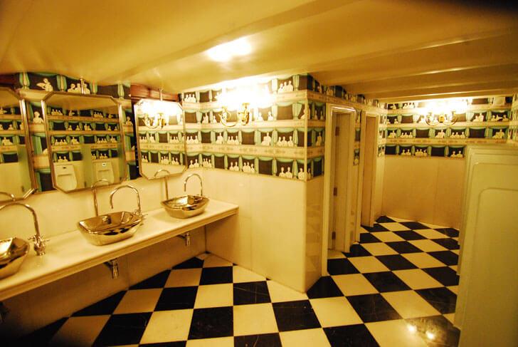 """Washroom Royal Opera House Mumbai Abha Lambah Associates indiaartndesign"""
