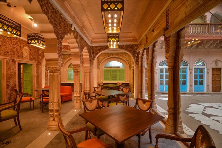 ground floor restaurant-Haveli-Dharampura