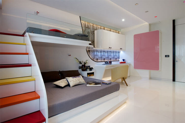 """childrens bedroom Juhu residence ZZ Architects indiaartndesign"""
