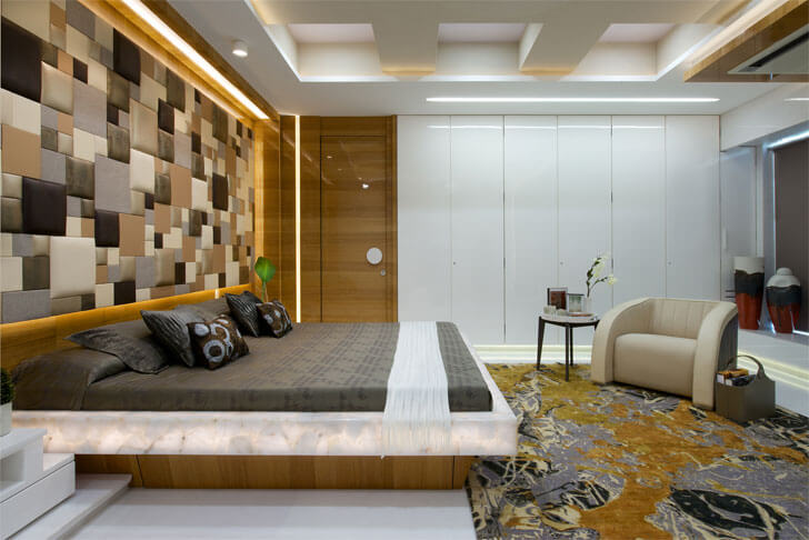 """coffered ceiling Juhu residence ZZ Architects indiaartndesign"""