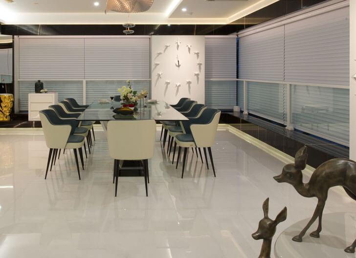 """dining area Juhu residence ZZ Architects indiaartndesign"""