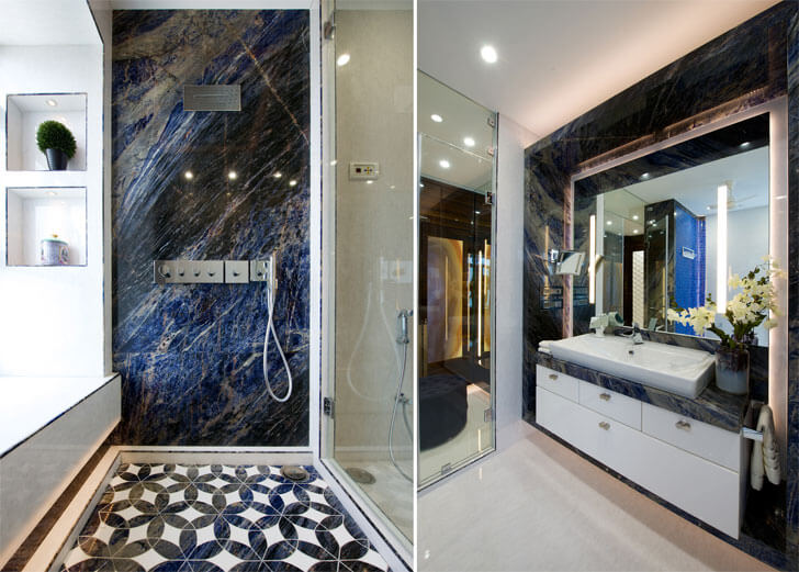 """luxurious bathroomJuhu residence ZZ Architects indiaartndesign"""