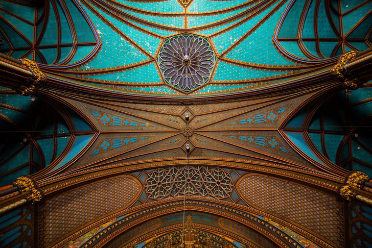 """""""notre dame basilica ceiling detail moment factory indiaartndesign"""""""