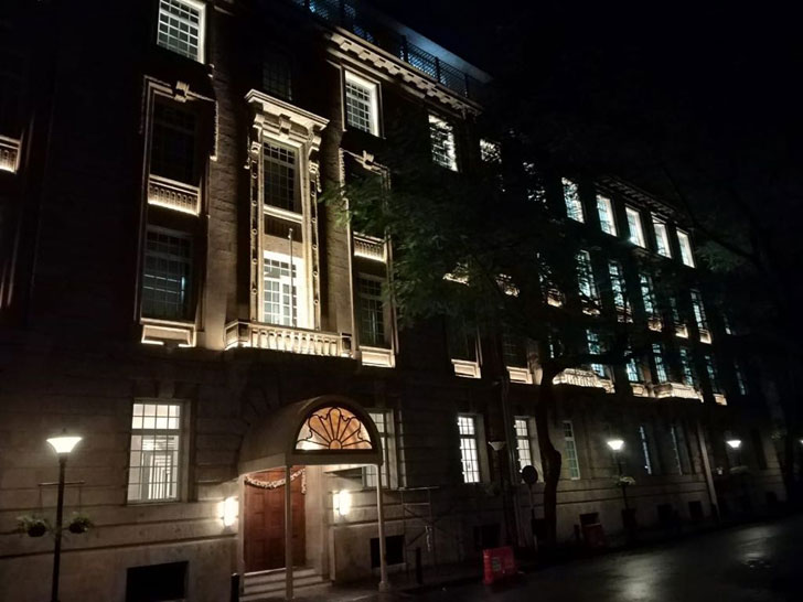 """night view Bombay House Somaya Kalappa Architects Indiaartndesign"""
