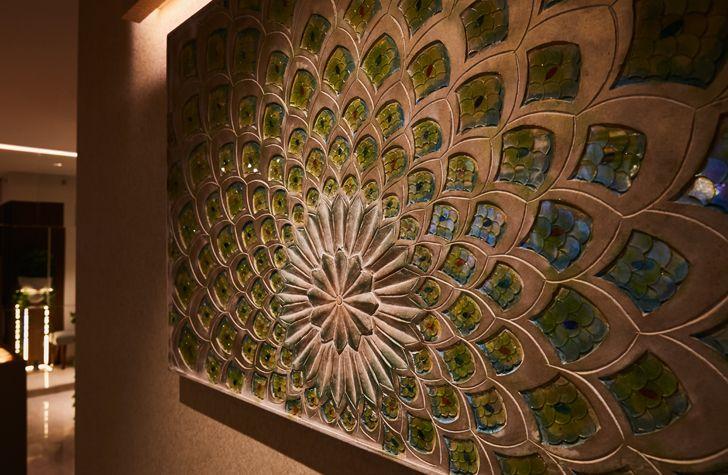 """""""peacock mural luxurious mumbai apartment mahesh punjabi associates indiaartndesign"""""""