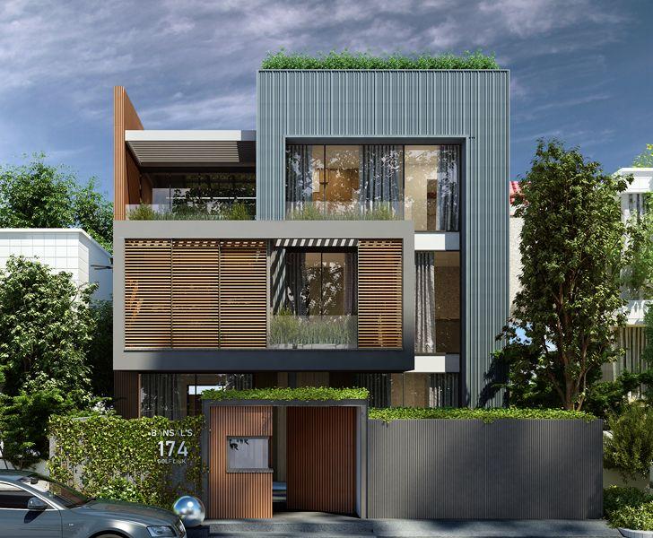 Metal facade Golf Links Delhi Cityspace82Architects indiaartndesign