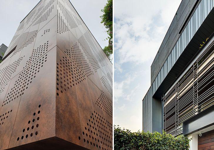 Metal facade HarmeetSingh PushkarMangla Cityspace82Architects indiaartndesign