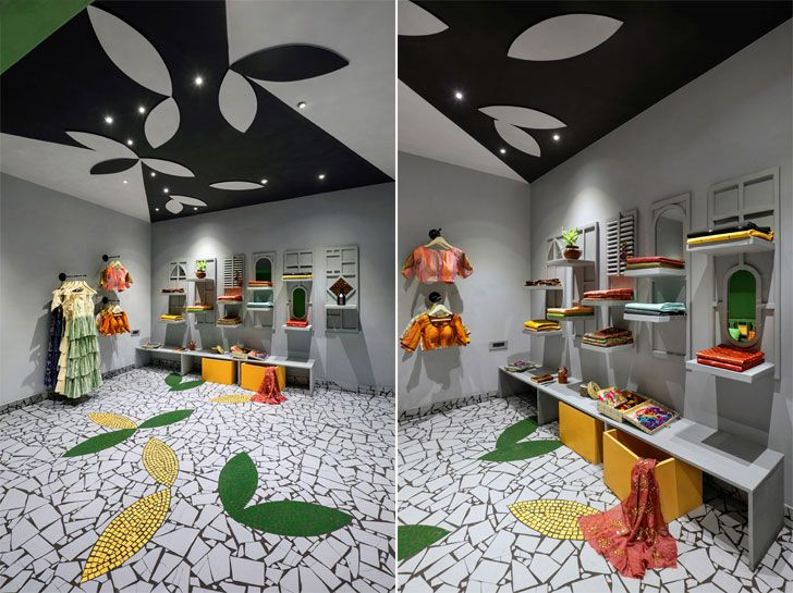 flooring ceiling complement ShefaliStudio ManojPatelDesignStudio indiaartndesign