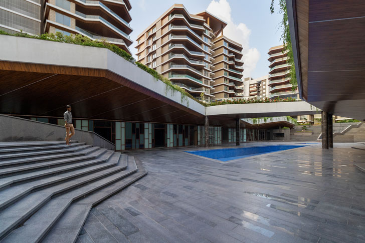 """open spaces Excellenseaa126 HappyHomes Surat SanjayPuriArchitects indiaartndesign"""