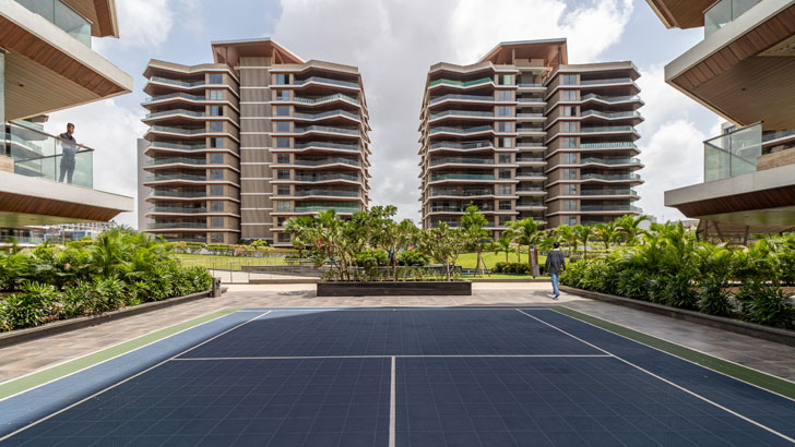 """sports area Excellenseaa126 HappyHomes Surat SanjayPuriArchitects indiaartndesign"""