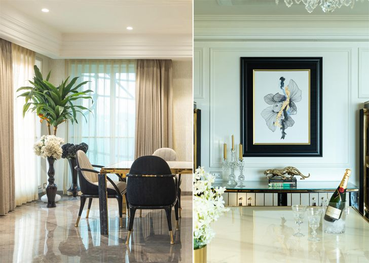 """dining Luxury apartment mumbai ayeshapuri indiaartndesign"""