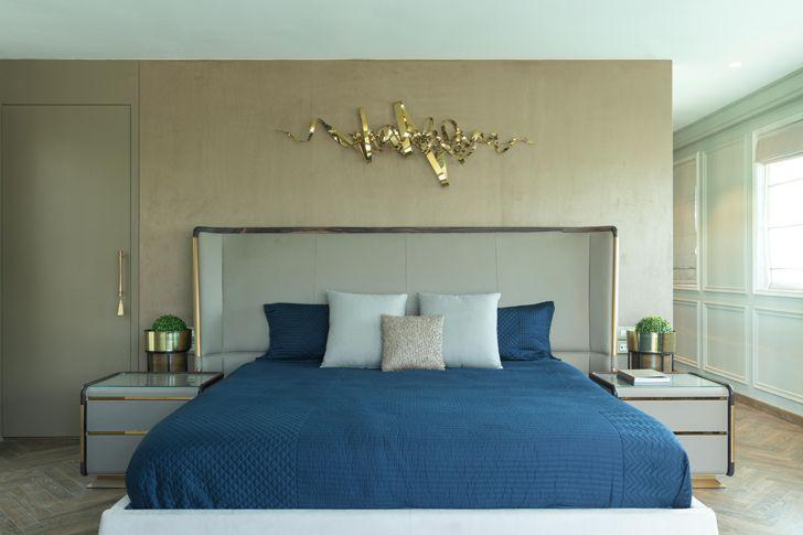 """master bedroom Luxury apartment mumbai ayeshapuri indiaartndesign"""