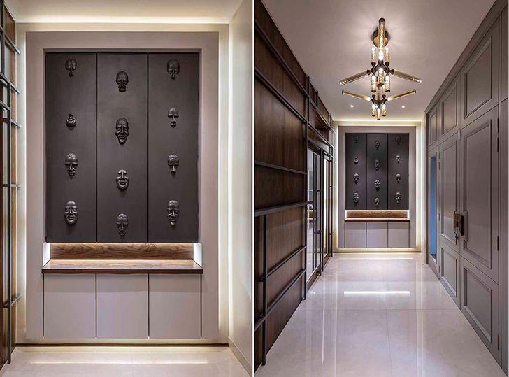 entrance vestibule Chennai residence HSDesiigns indiaartndesign