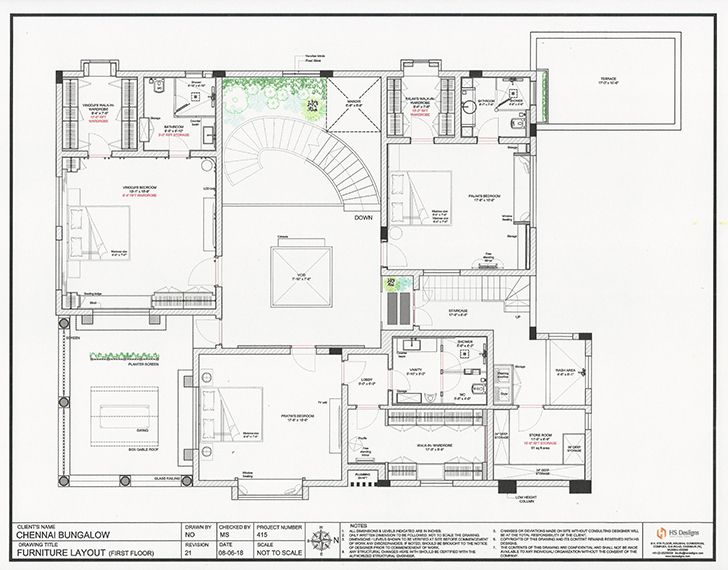 firstfloor plan Chennai residence HSDesiigns indiaartndesign