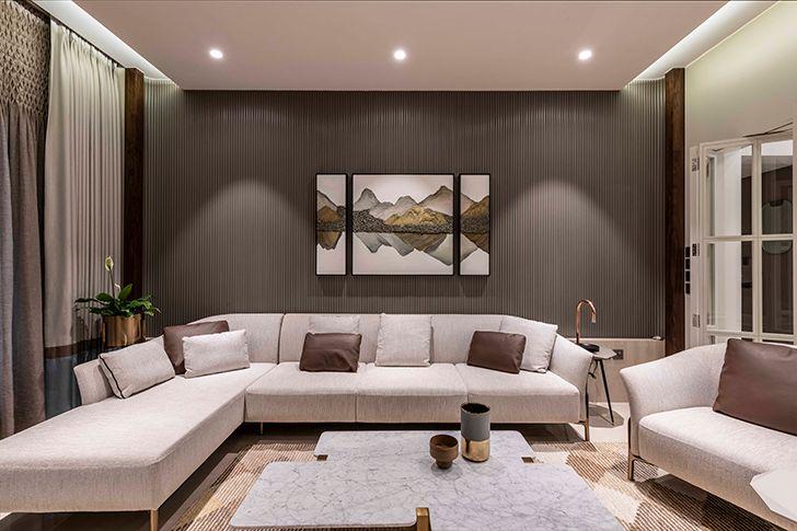 lounge Chennai residence HSDesiigns indiaartndesign