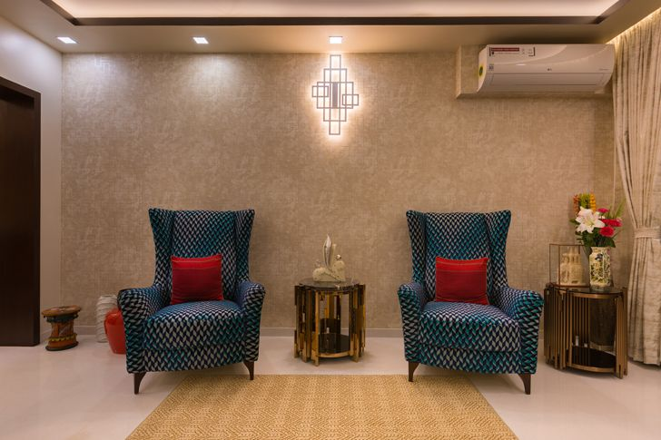 accent feature living room Sobha Palladium home The KariGhars indiaartndesign