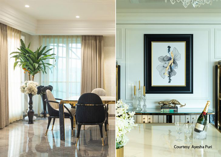 """dining Luxury apartment mumbai ayeshapuri indiaartndesign"""